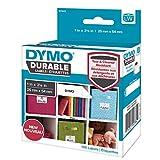 DYMO LW etiquetas resistentes para LabelWriter rotuladoras, poli blanco, 25x54 mm, rollo de 160 (1976411)