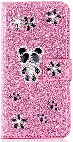 Miagon for iPhone 6S Plus 6 Plus Glitter Wallet Case 3D Diamond Kickstand Magnetic Bling PU product image