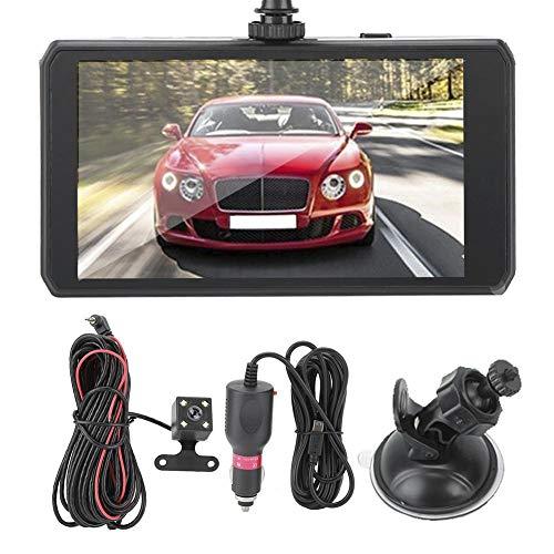 Gorgeri Car DVR Camera Dash Cam, 4.5in 1080P Car DVR Dual Lens Driving Recorder 140 ° Gran angular LCD Video Recorder