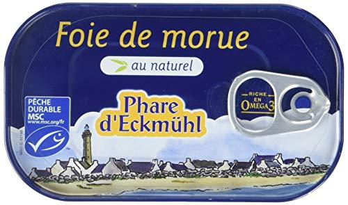 Phare d'Eckmül Foie de Morue Naturel MSC Bio 121 g