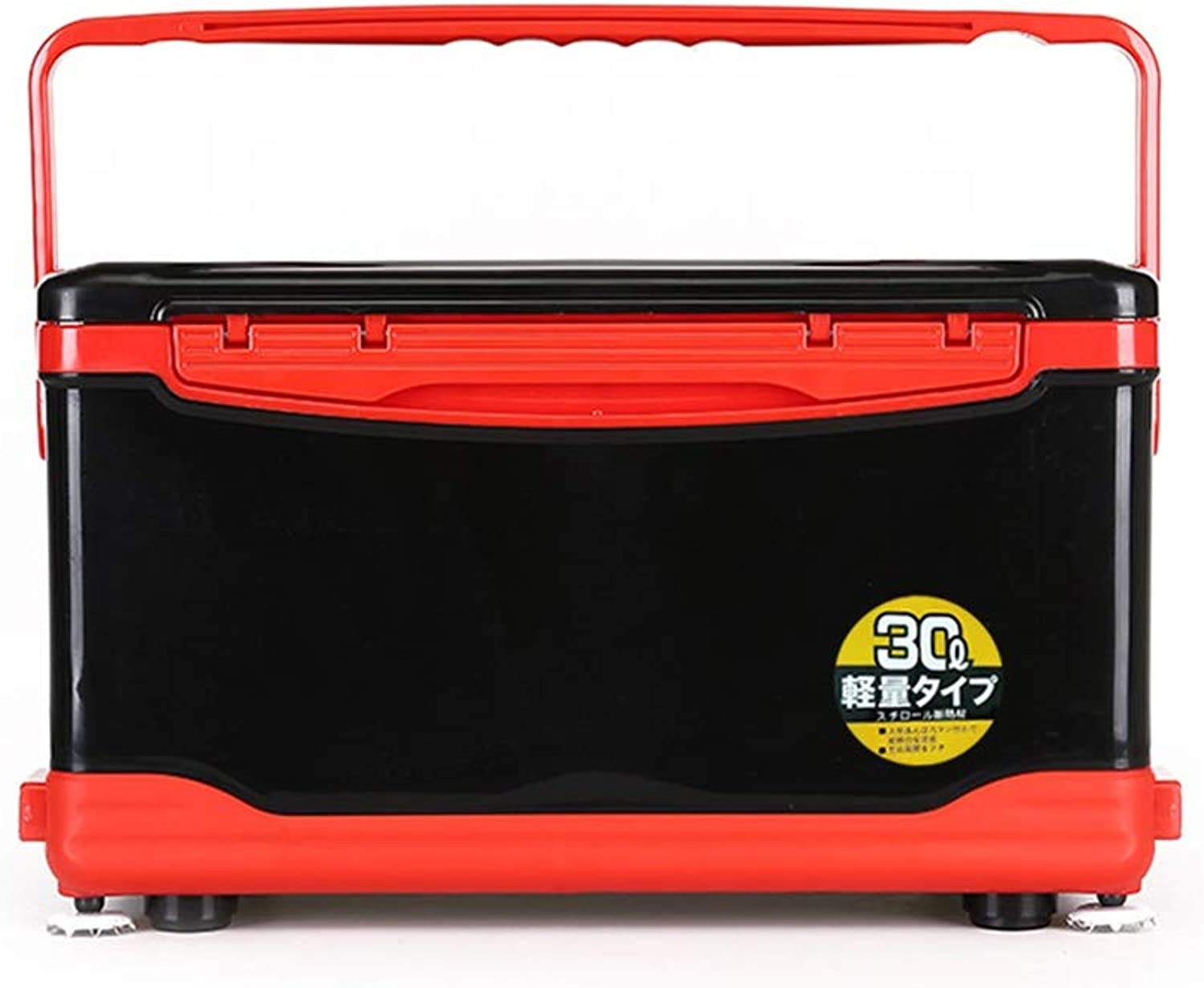 30L Insulation Fishing Box with Seat,Fishing Live Bait Coolers Cold Storage Time 72h,Four-Legged Lift