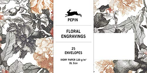 Floral Engravings: Envelopes (DL): 25 DL Envelopes (Set)