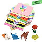 Papel de origami, 100 hojas de 15 x 15 cm, papel cuadrado para grulla plegable, rosas, flores, aviones, corazones, manualidades para niños y manualidades, decoración de papel artesanal