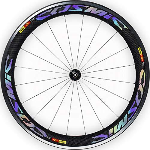 Pegatinas Llantas Bicicleta 29' Mavic Cosmic Ultimate WH18 VINILOS Ruedas HOLOGRÁFICO ARCOÍRIS