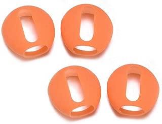 Bluetooth Earphones & Headphones,pgmrw23h 2 Pair Silicone Anti-Slip Earphone Protective Cover Case Eartips for Air-pods 1 2 - Orange