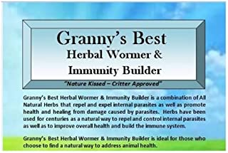 Granny's Best Herbal Wormer & Immunity Builder - A Natural Way to Build Animal Health with a Handcrafted Proprietary Blend of Herbs that Repel and Expel Internal Parasites and Build the Immune System 16 oz