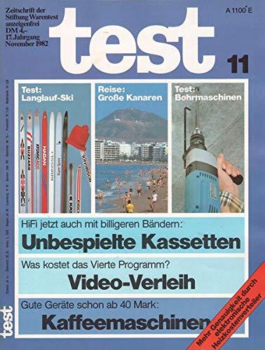 Test Nr. 11/1982 Was kostet das Vierte Programm? Video-Verleih