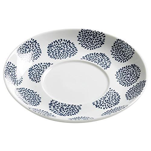 Maxwell williams indigo &flower soucoupe à tasse et sous-tasse avec soucoupe motif fleurs p49451 porcelaine blanc