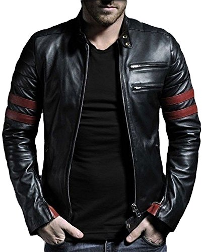 Leather4u -  Giacca - Uomo Nero Medium
