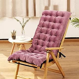 Plush Bench Cushion, Rocking Chair Cushions, Padded Chair Pads Cushion Non Slip Lazy Cushion Matt Mat Floor Pillow Office Sofa Home-Purple 40x100cm(16x39inch)