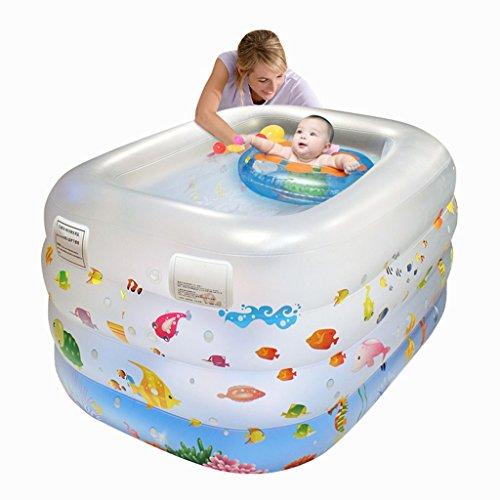 Baignoire gonflable Gonflable baignoire bébé piscine nouveau-né baignade bébé piscine ménage spa gonflable (Size : 140 * 110 * 70cm)
