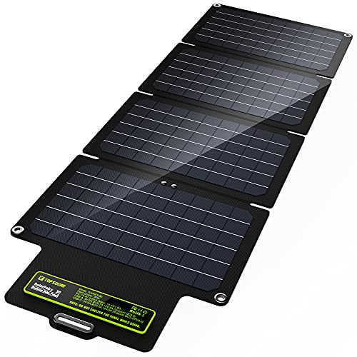 UPGRADE Topsolar SolarFairy 30 Foldable Solar Panel 30W Portable Battery Charger Kit for Cell Phone Power Bank Car Boat RVs Off Grid Charge 12V Batteries & 5V Device