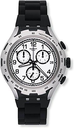 Swatch Reloj Digital para Hombre de Cuarzo con Correa en Aluminio YYS4020AG