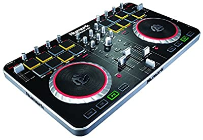 Numark Mixtrack Pro II All-In-One 2-Channel DJ Controller with Audio I/O, Drum Pads and Touch-activated Jog Wheels + Serato DJ Intro