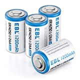 EBL 1/2 AA Size 14250 ER14250 3.6 Volt Lithium Batteries, 1200mAh High Capacity Batteries for Dog Collars and Baby Movement Monitor Alarm Systems and More (Non-Rechargeable)