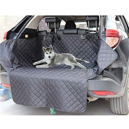 ZHHk Cama de Perro zhhhk Chaqueta de Coche Negra Protector de cojín Impermeable Cubierta del Asiento Trasero del Perro Manta con protección Lateral camión Universal SUV