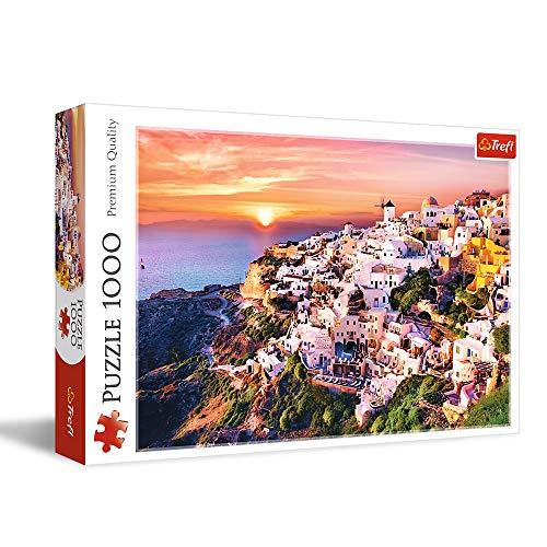 Puzzle 1000 Zachód slonca nad Santorini