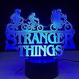 3D ilusión luz LED noche extraño cosas American Web TV serie sensor táctil dormitorio lámpara de mesa niños regalos cumpleaños