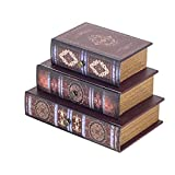 Vidal Regalos Caja Almacenamiento Libros con 3 cajones 21x14x15 cm MDF y PVC