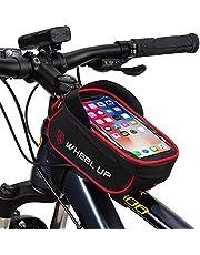 """JeeLet Bolsa Bicicleta Bolsa Movil Bici con Ventana para Pantalla Táctil Cuadro Pantalla Táctil Cremallera Impermeable Soporte para Móvil 6,5"""""""