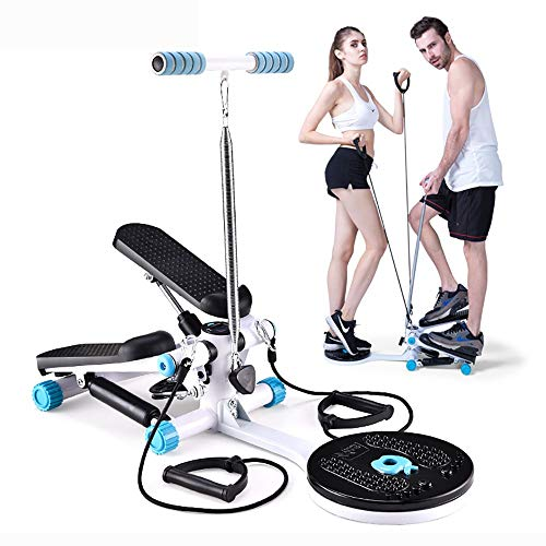 DODOBD Mini Stepper up-Down para Hacer Ejercicio de gluteos y Cardio Stepper Lateral con Barra Stepper Cardio Fitness Aire Stepper Escalador Aptitud Máquinas Step Silencioso,Drawstring