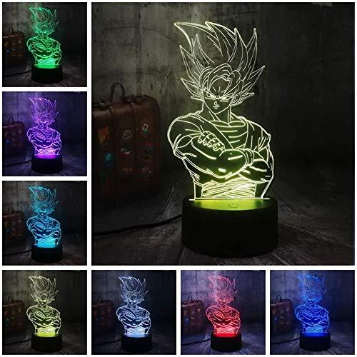 3D LED Licht Nachtlicht Kinder Illusion Stimmungslicht Fernbedienung Nachttischlampe 16 Farben ändern Touch Switch Schreibtisch Lampen GeburtstagsgeschenkMischen Sie Naruto Face