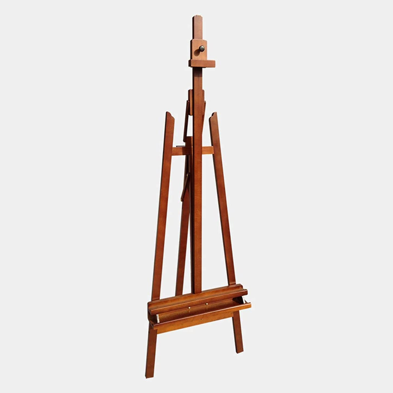 徴収鉄複雑なイーゼル - ブナの木のイーゼルフロアの油絵スタンドのディスプレイラック持ち上げスケッチ木製のフレームをスケッチ (色 : A)