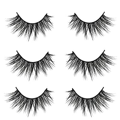 VGTE 3D False Eyelashes Extension 3Pairs Makeup Hand-made Dramatic Long Lashes Reusable Cruelty-Free Fake Eyelash