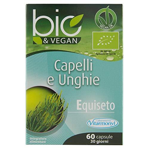 Vitarmonyl CAPELLI E UNGHIE BIO&VEGAN • Integratore 60 capsule • Equiseto • 100% vegan • Registrato Ministero Salute Italiano