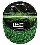 Zeck Schnur Hulk Line 0,60mm 59kg 320m, geflochtene Schnur zum Welsangeln, Welsschnur, Wallerschnur, grüne Angelschnur