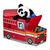Relaxdays Baúl para juguetes, Taburete infantil plegable, Caja con...