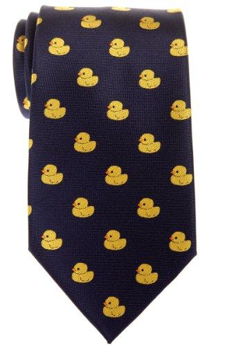 Corbata para hombre con diseño de patos de goma de Retreez,