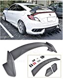 Extreme Online Store Replacement for 2016-Present Honda Civic Coupe FC3 FC4   EOS JDM Type-R Style ABS Plastic Primer Black Rear Trunk Lid Wing Spoiler