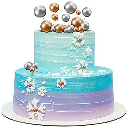 66 Mini Topper Torta Palloncino Plettri per Torta con Palline di Schiuma Inserto Topper per Torta Cupcake Palline Perle...