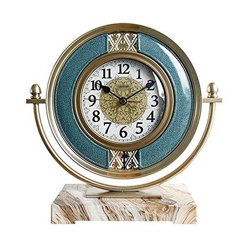 Aiglen Reloj De Mesa Nórdico Geométrico Reloj De Mesa Silencioso Grande Creativo Retro Decoración del Hogar