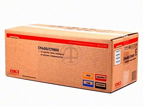 OKI C 9850 HN (43112702) - original - Toner MultiPack (schwarz, cyan, magenta, gelb) - 15.000 Seiten
