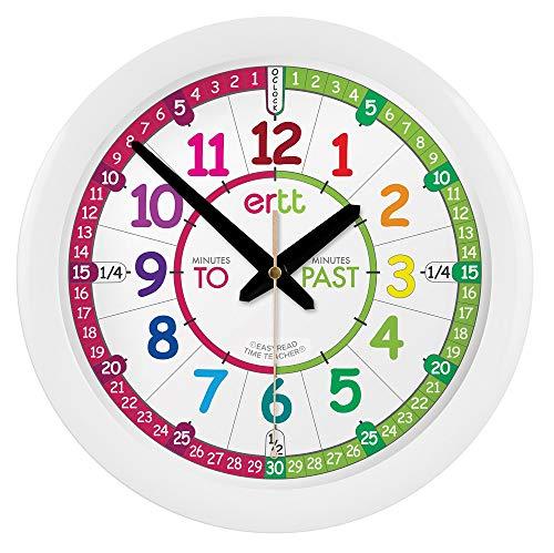 EasyRead Time Teacher ERTT-EN Horloge murale d'apprentissage pour enfants - Anglais