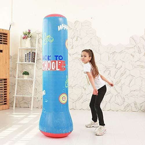 MEROURII - Saco de boxeo hinchable para pilas, pilares de lucha, saco de boxeo hinchable para jugar a fitness, adultos, saco de boxeo, tamaño 1,5 m