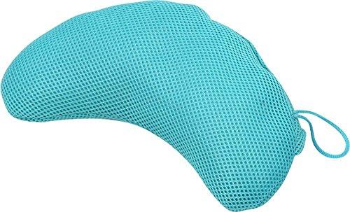 大島屋お風呂枕ゼリービーンズピローブルー約28×12×7.5cm