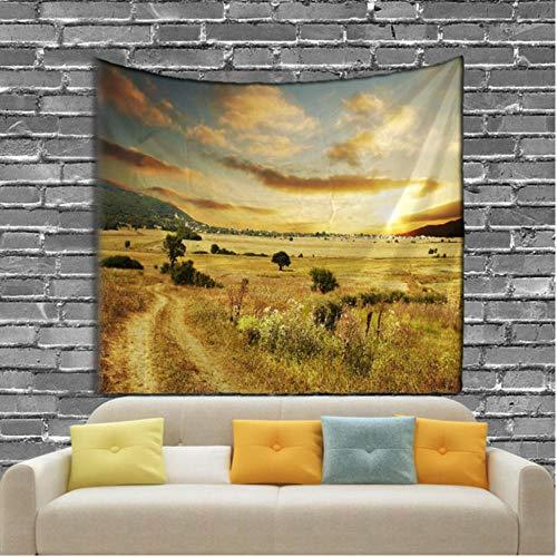 fczka Impresión Digital Tapiz de Bosque Playa de Arena Toalla de Picnic Decoración de Sala de Estar y Dormitorio 59x91 Inches(150x230cm)