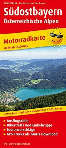 Südostbayern - Österreichische Alpen: Motorradkarte mit Tourenvorschlägen, Ausflugszielen, Einkehr- & Freizeittipps, reissfest, wetterfest, abwischbar, GPS-genau. 1:200000 (Motorradkarte / MK)