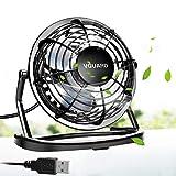 VGUARD Mini Ventilateur USB Fan, 360 Degrés Rotation, Portable de 4 Pouces, Silencieux Ventilateur de Bureau/Table pour Table PC,...