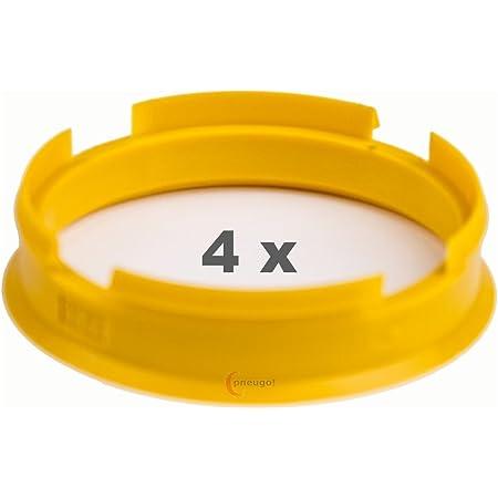 4 X Zentrierringe 72 6 Mm Auf 65 1 Mm Gelb Yellow Auto