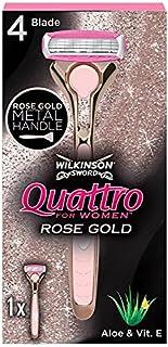 Wilkinson Sword Quattro For Women Rose Gold Razor