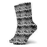 General Brand Unisex Crew Socks,Antideslizantes Medias Bajas,Elegante Quarter Calcetín,My Favorite People Call Me Pops Calcetines Deportivos De Corte Bajo Calcetines Para Correr Para Mujeres Hombres