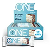 ONE Protein Bars, Birthday Cake, Gluten-Free Protein Bar with 20g Protein and only 1g Sugar, Snacking for High Protein Diets, 2.12 Ounce (12 Pack)