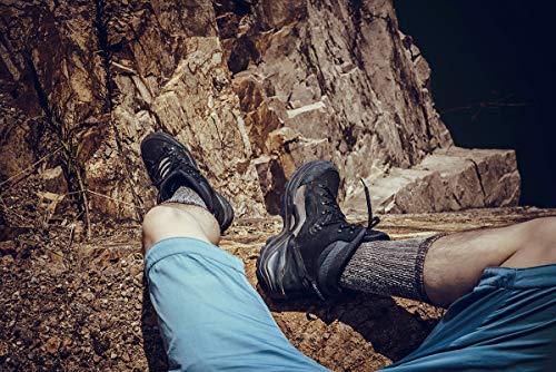 Time May Tell Mens Merino Wool Hiking Cushion Socks Pack (Brown(2 pairs), US Size 9.5~13)