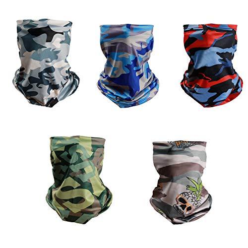 TISSCARE Outdoor Multifunktionstuch Schlauchtuch Sport-Halstuch Bandana Kopftuch, Stirnband,Schnelltrocknend Atmungsaktiv Weich Gesichtsmaske,Unisex (Tarnung Set)