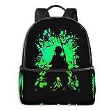 Bolsa de escuela inspirada en salpicaduras de pintura para estudiante, escuela, ciclismo, ocio y viajes