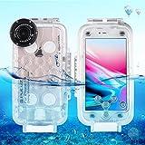Egurs Underwater Waterproof Diving Case für iPhone 7 Plus iPhone 8 Plus, 40m Tiefsee-Tauchgehäuse,...
